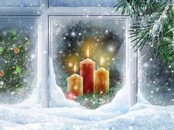 Christmas Candles Animation Wallpaper