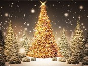 Gold Christmas Tree Animation Wallpaper
