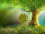 Fantasie-Uhr Animation Wallpaper