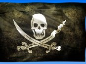 Drapeau de Pirate Animation Wallpaper